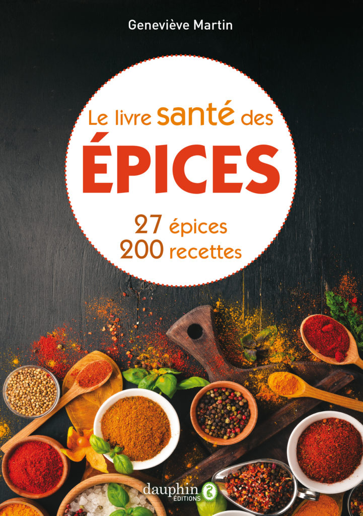 livre avec des recettes à base d'épices bonnes pour la santé
